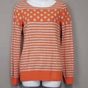 J. Crew Factory warmspun stripe-dot sweater